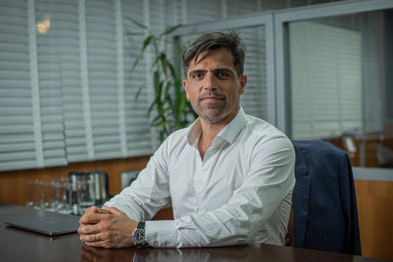Eduardo Barella, CEO do consórcio Allegra Pacaembu, em seu escritório no centro de São Paulo
