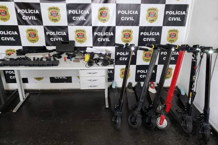 Polícia apreende patinetes elétricas e carregadores em SP