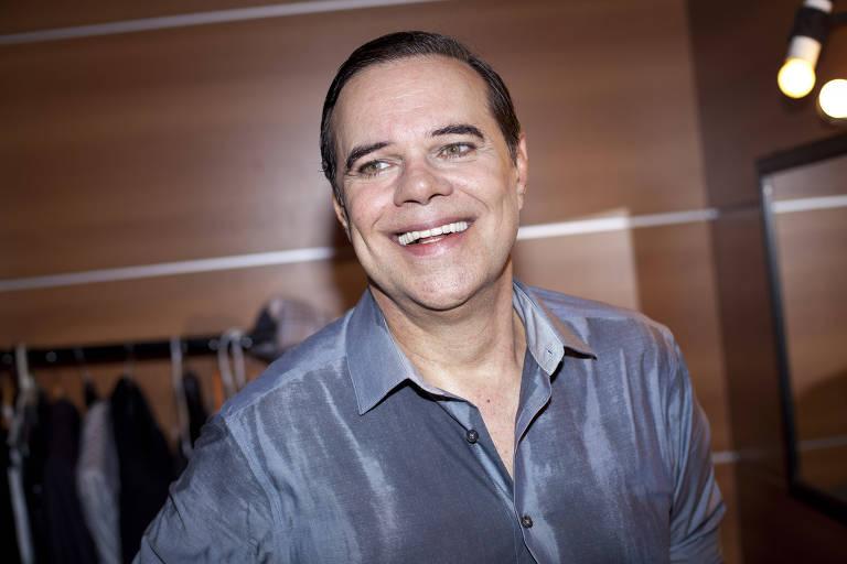 Diogo Vilela no camarim na estreia da peca 'Sim! Eu Aceito! Uma comedia Musical' no Teatro Gazeta.