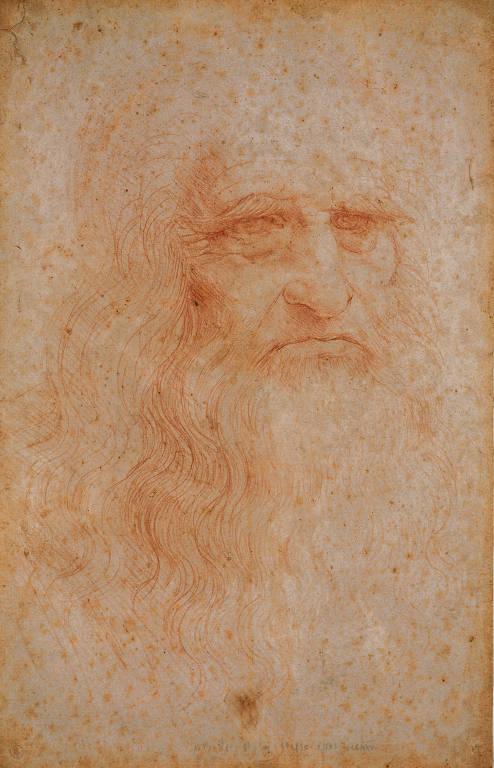A réplica do autorretrato de Leonardo da Vinci estará na exposição Da Vinci Experiencie e Suas Invenções