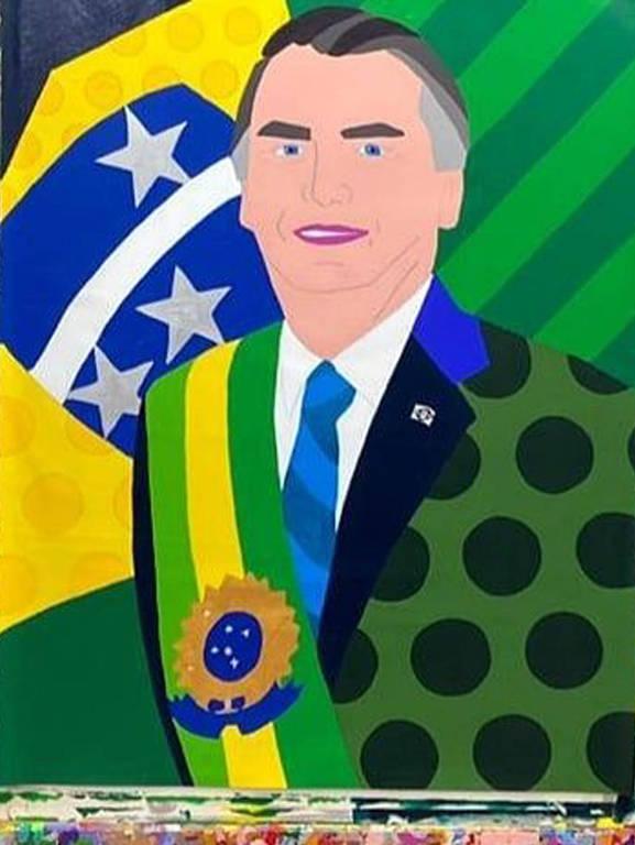 Romero Britto faz homenagem ao presidente Jair Bolsonaro