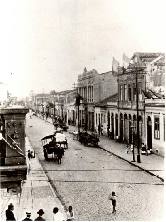 Rua Caetano Pinto, no Brás, na década de 1930
