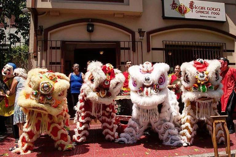 Celebração do Ano-Novo chinês do restaurante Kar Wua, em Pinheiros