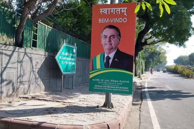 Jair Bolsonaro vai à Índia