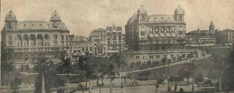Vale do Anhangabaú em 1924