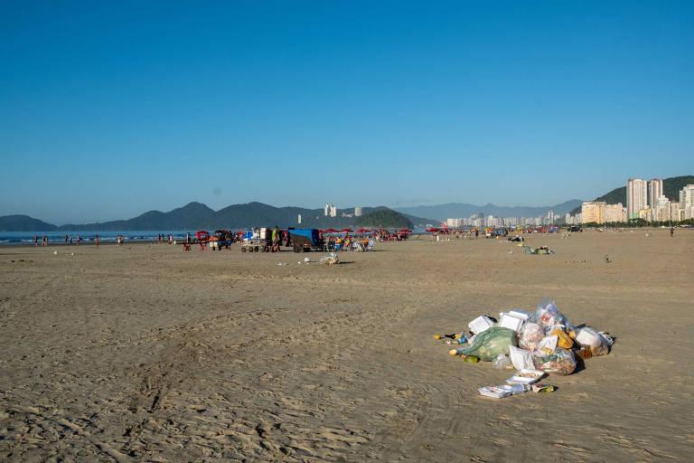 Resultado das coletas nas praias de Santos feitas pelo Instituto Ecofaxina