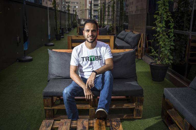 Matheus Goyas, 29, um dos sócios da Trybe, em São Paulo
