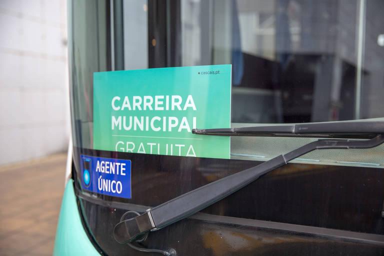 Ônibus em Cascais não cobram tarifa dos passageiros