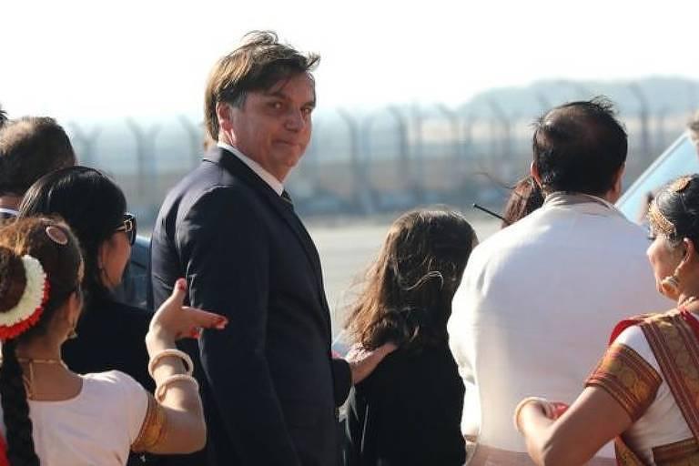 Oficiais do Ministério da Defesa e CEOs de empresas brasileiras de armas acompanham a comitiva presidencial na Índia