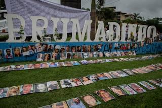 Familiares participam de homenagens às vítimas da tragédia de Brumadinho (MG)