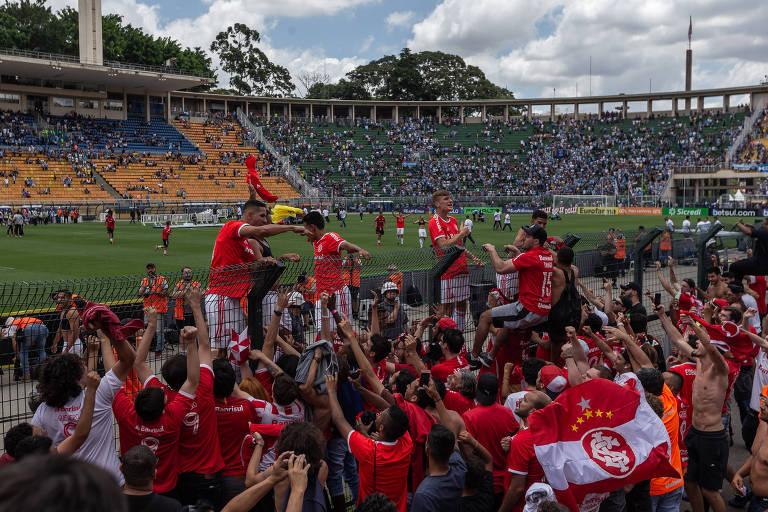 Festa do Internacional pela conquista da Copa São Paulo