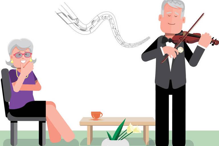 Musicoterapia em casal alivia sinais do Alzheimer, diz estudo