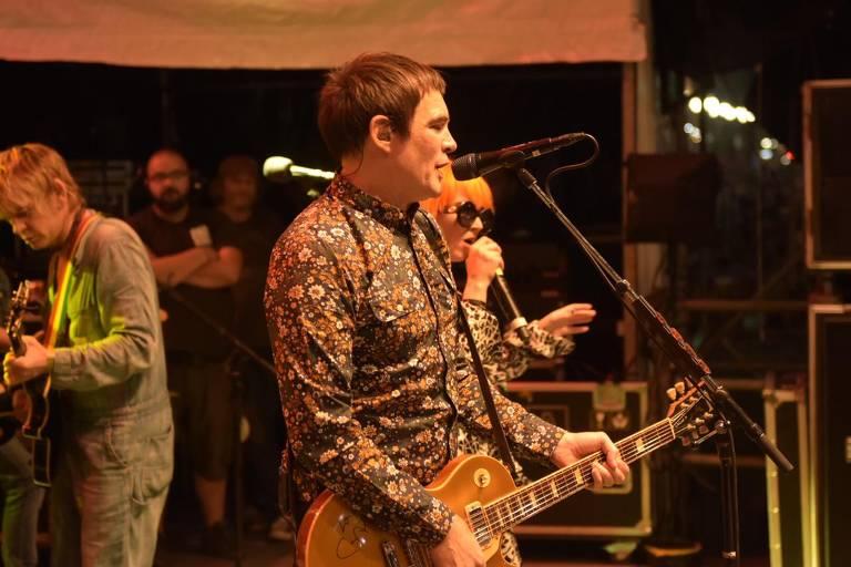Samuel Rosa durante o show do Skank no aniversário de SP