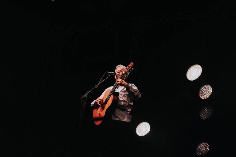 Caetano Veloso faz show no festival Planeta Brasil 2020, na esplanada do Mineirão, em Belo Horizonte