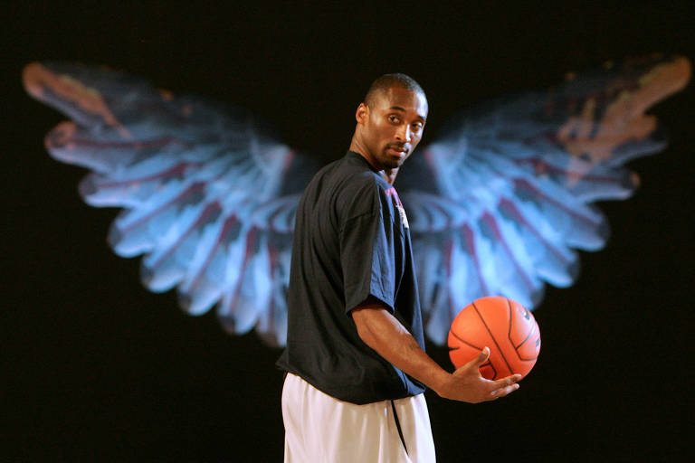 Kobe Bryant durante evento de basquete na China, em 2007
