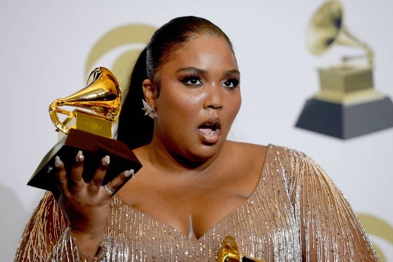 Lizzo venceu o prêmio de Melhor Performance de Pop Solo e Melhor Performance de R&B no 62º Grammy
