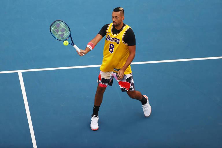 Kyrgios e Nadal homenageiam Kobe Bryant no Australian Open