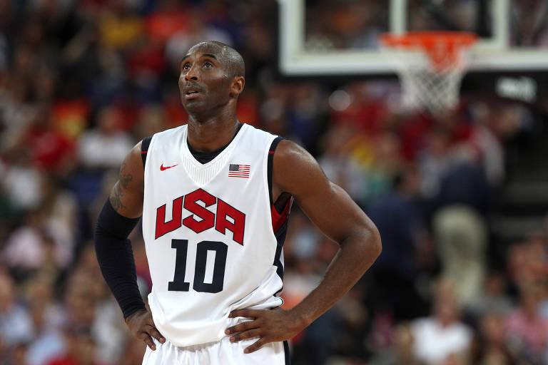 Kobe Bryant, com a camisa 10 dos Estados Unidos, na Olimpíada de Londres-2012