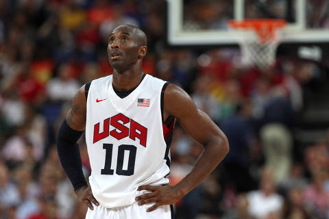 FILE PHOTO: Olympics - London 2012 Olympic Games - North Greenwich Arena  - 12/8/12  Basketball - Men's Basketball Gold Medal Game - USA v Spain - USA's Kobe Bryant   Mandatory Credit: Action Images / Paul Childs/File Photo.  PLEASE NOTE: FOR EDITORIAL USE ONLY ORG XMIT: UKGeDM