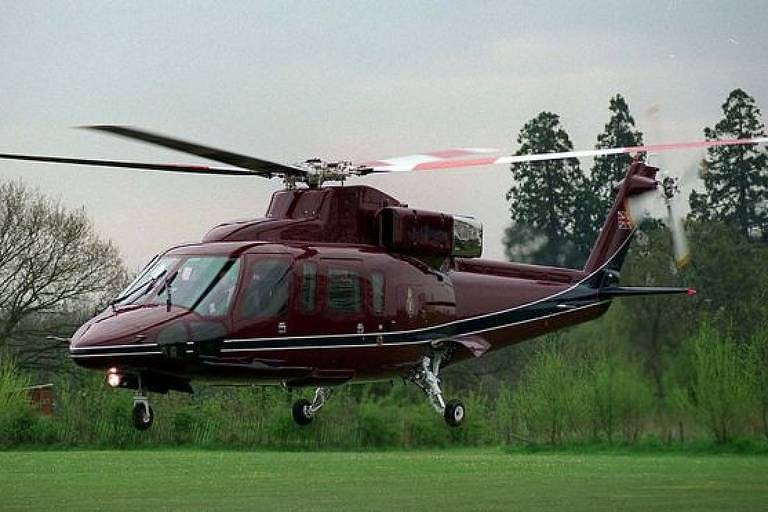 O modelo Sikorsky S-76 é normalmente usado para transportar autoridades, empresários e celebridades