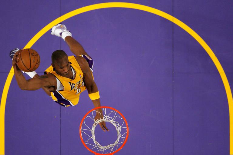 Kobe Bryant em ação pelo Los Angeles Lakers