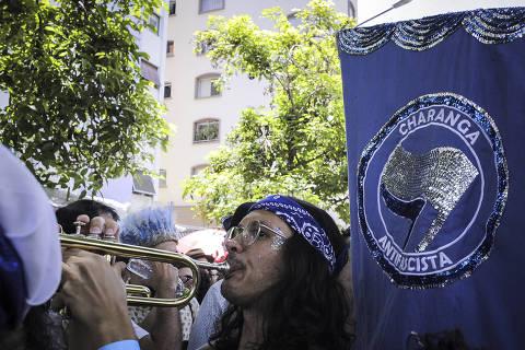 SÃO PAULO, SP, BRASIL, 26-01- 2020, 11hs: Ensaio do bloco Charanga do França,  em SP na manhã deste domingo, 26. (Foto: Jardiel Carvalho/Folhapress - COTIDIANO). EXCLUSIVO  FOLHA