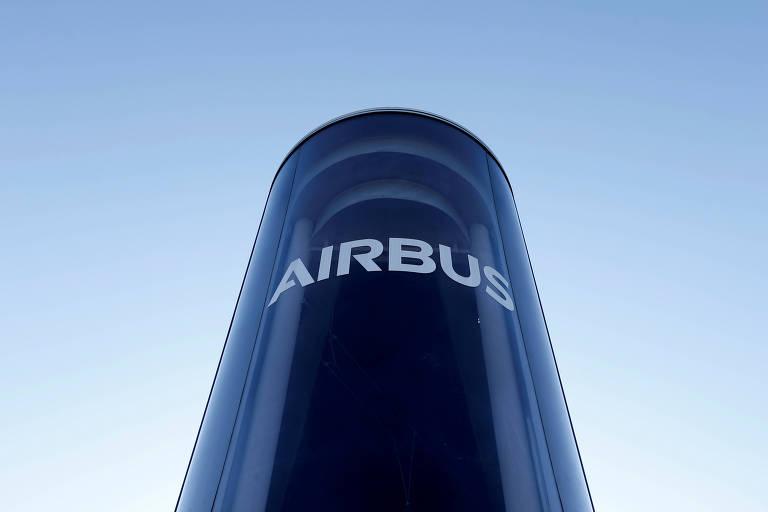 Logo do Airbus;  analistas preveem multas de mais de € 3 bilhões