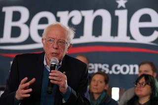 Democratic 2020 U.S. presidential candidate Sanders campaigns in Perry, Iowa