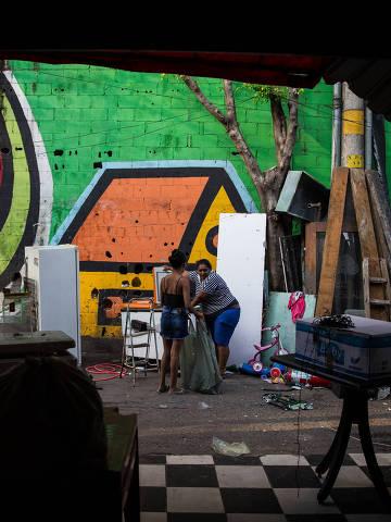 SAO PAULOS/ SP, BRASIL, 28-01-2020: Reintegração da favela da Funchal  na rua Coliseo , Vila Olímpia. (Foto: Zanone Fraissat/Folhapress, COTIDIANO)***EXCLUSIVO****