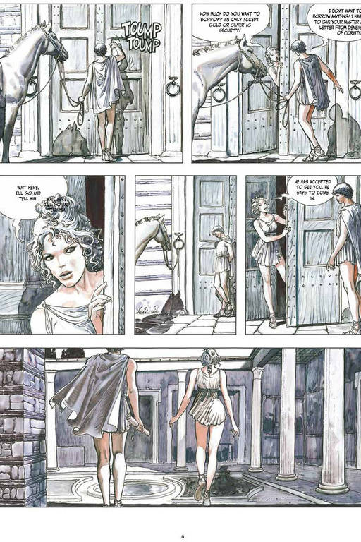 """Página da HQ de """"L'Asino d'Oro"""", de Milo Manara"""