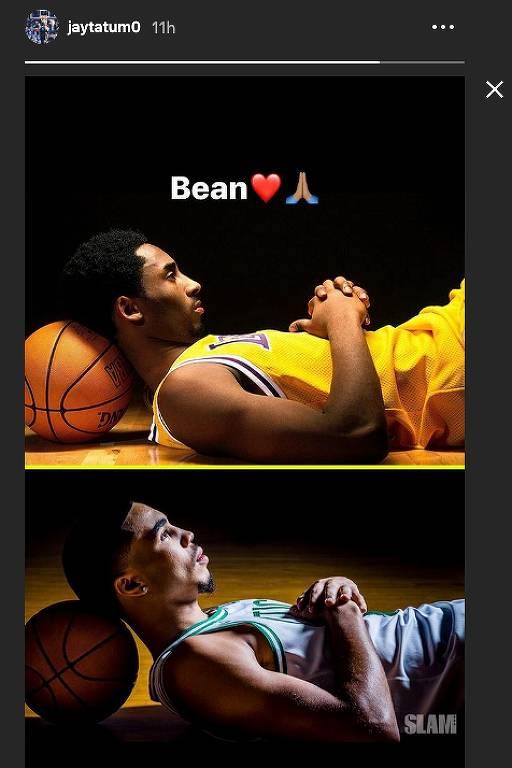 Jayson Tatum e Kobe Bryant