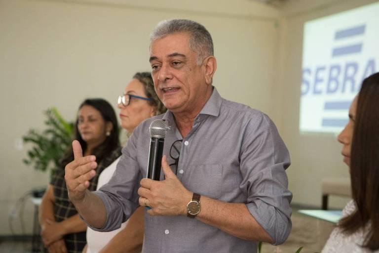 O chefe de gabinete do Ministério do Turismo, Hercy Filho, em evento no Tocantins