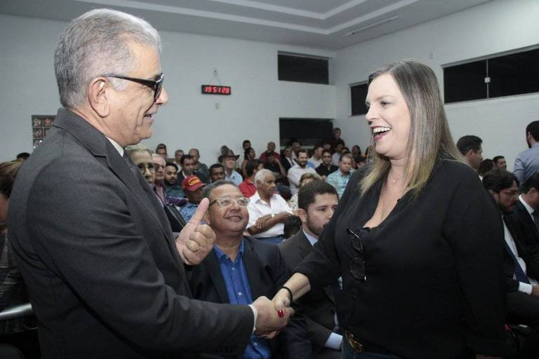 Em setembro, o então ministro interino do Turismo, Hercy Filho, em Dianópolis, no Tocantins