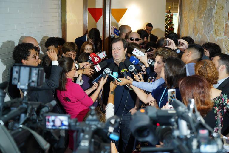 Brasília, 19 de dezembro de 2019. Presidente da Câmara dos Deputados, dep. Rodrigo Maia concede entrevista. Pablo Valadares/Câmara dos Deputados