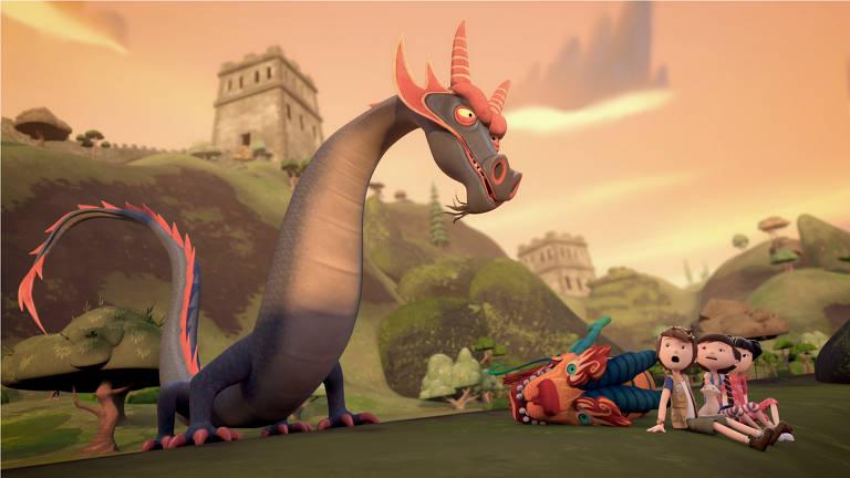 Cena da animação 'Diário de Pilar', baseada nos livros de Flávia Lins e Silva