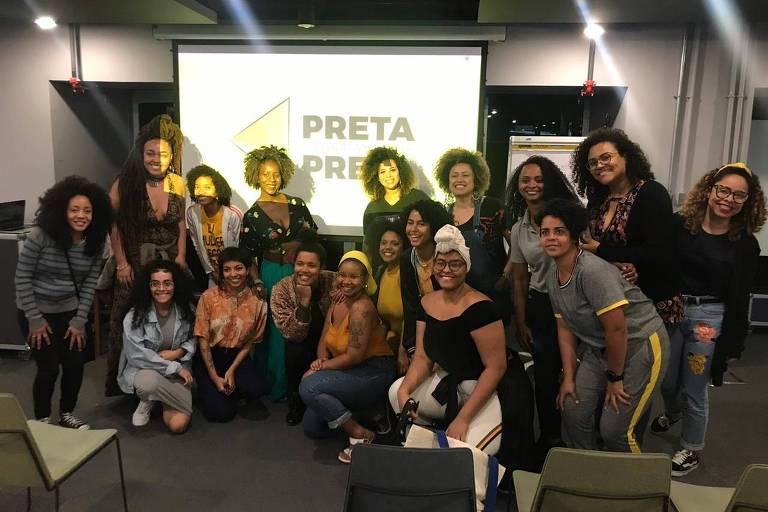Encontro de afroempreendedoras que passaram por mentoria do Preta Comprando de Preta