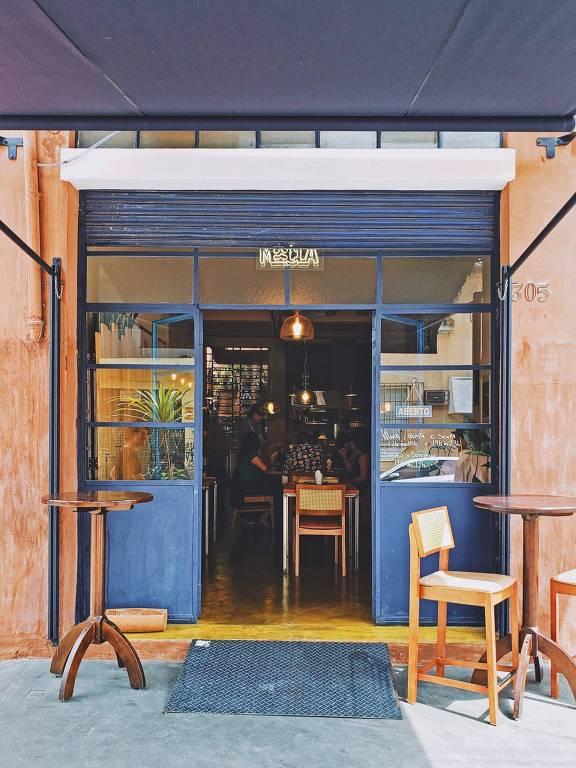 Ambiente do restaurante Mescla, na Barra Funda