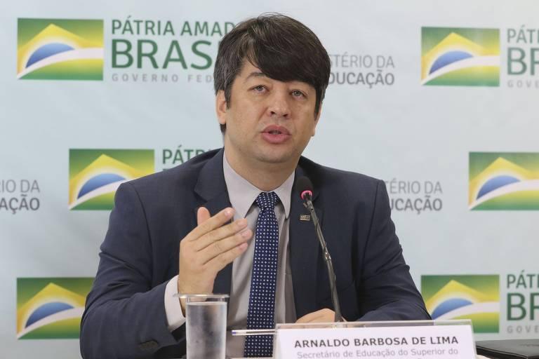 Arnaldo Barbosa de Lima Júnior, que pediu demissão do cargo de secretário da Educação Superior do MEC