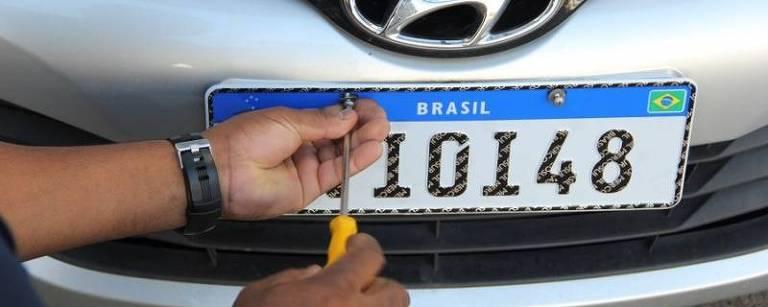 Nova placa de carros do padrão Mercosul