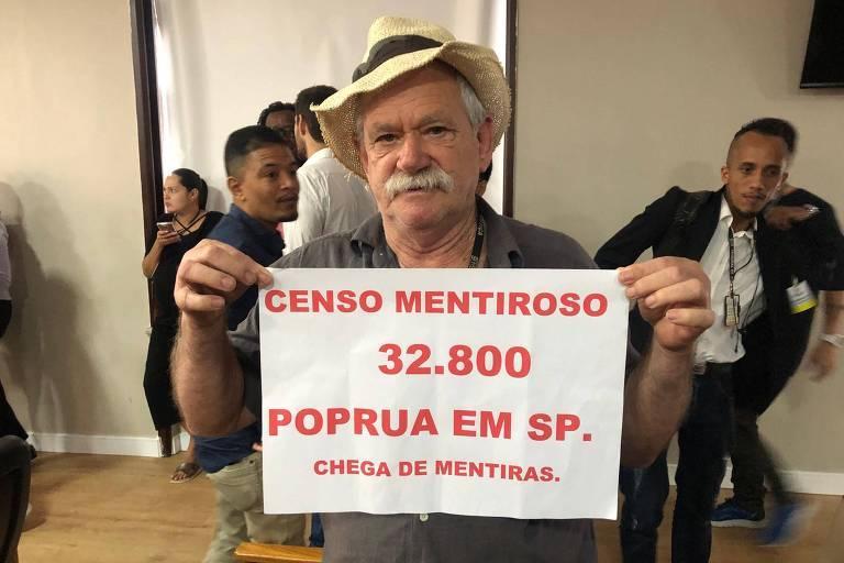 Robson Mendonça, presidente do Movimento Estadual de População de Rua de SP, contesta resultado do censo da prefeitura