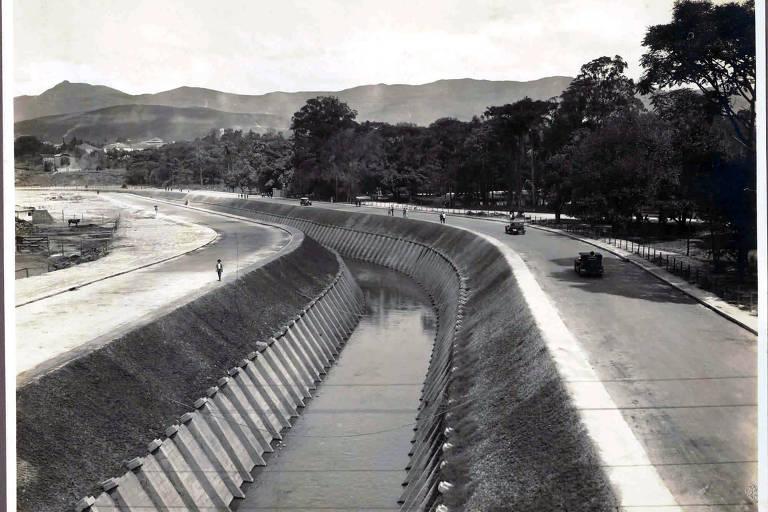 Imagem mostra Arrudas canalizado em 1929