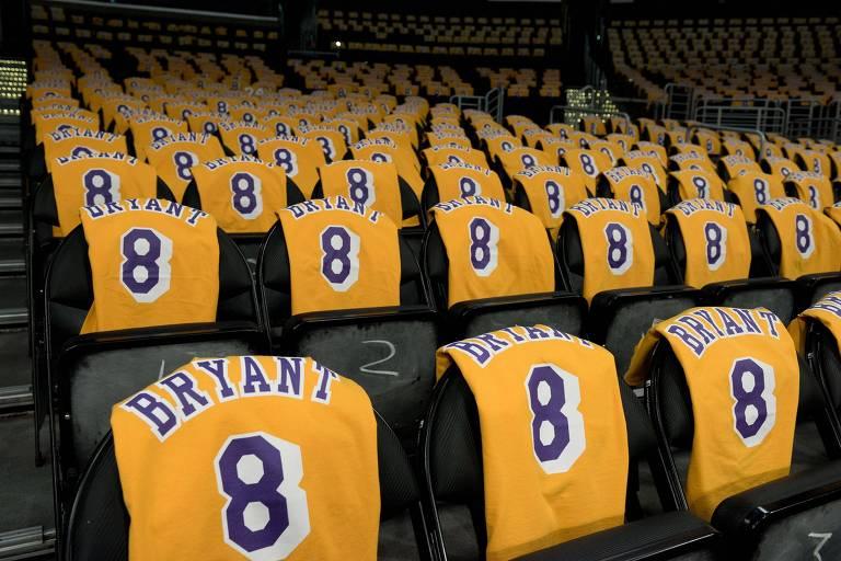 Sequência de camisas 8 de Kobe Bryant
