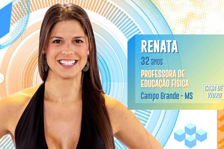 Professora de educação física, Renata é uma das participantes da Casa de Vidro do BBB 20