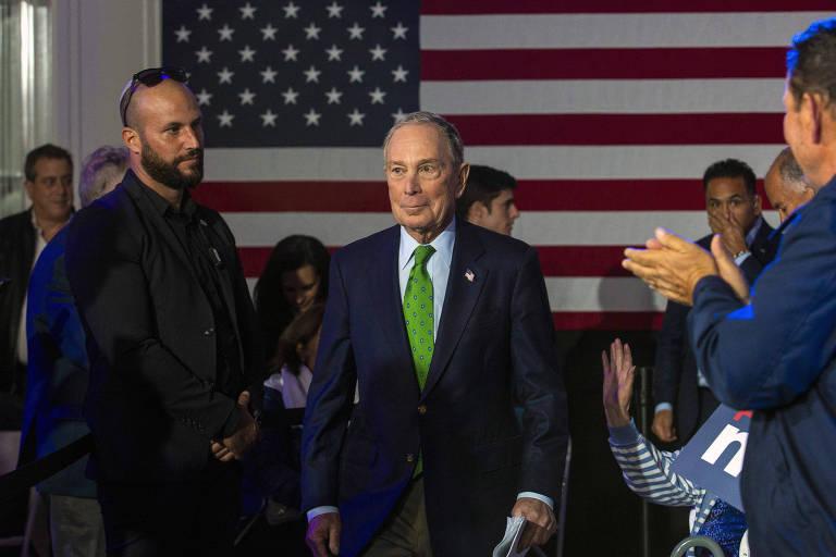 Michael Bloomberg, bilionário e ex-prefeito de Nova York, é um dos candidatos do Partido Democrata