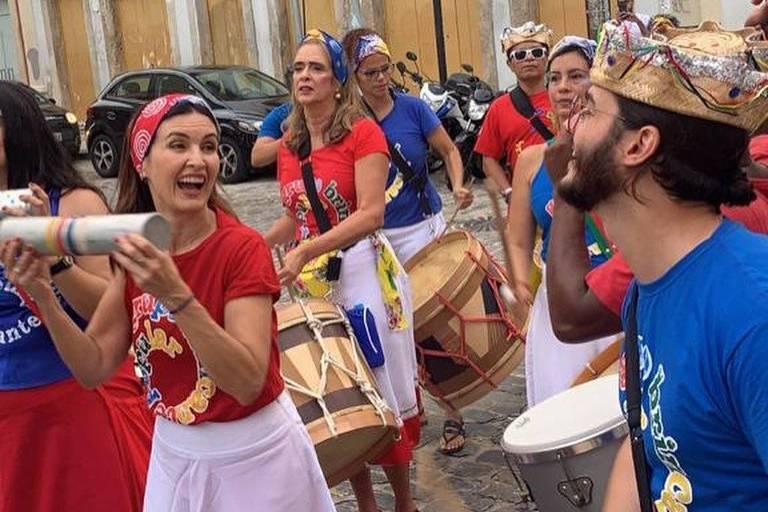 Fátima Bernardes e Túlio Gadelha no Carnaval  do Recife