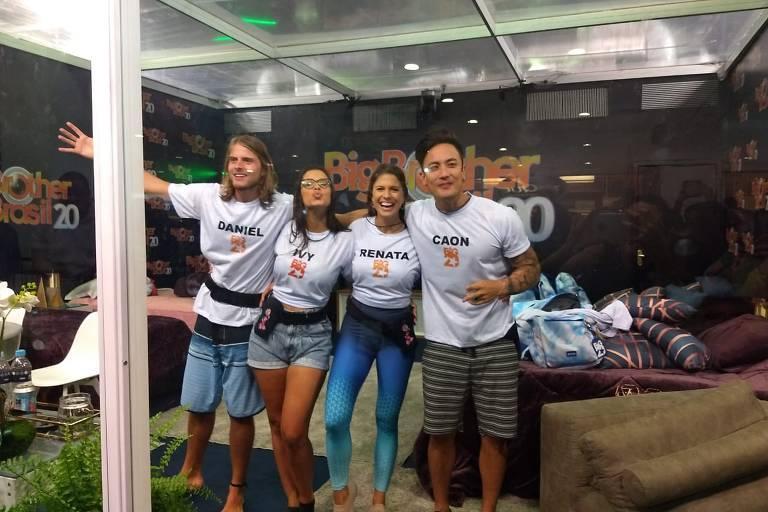 Daniel, Caon, Ivy e Renata disputam uma vaga na casa mais vigiada do Brasil