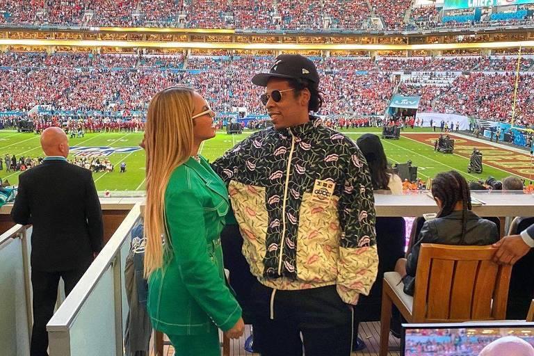 Beyoncé e Jay-Z no Super Bowl