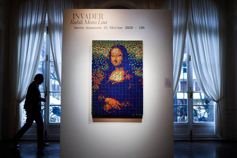 Mona Lisa de cubos mágicos