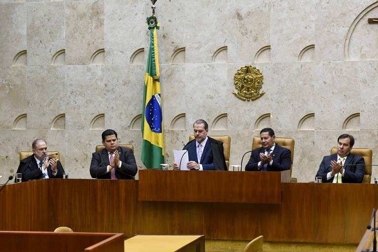 Sessão solene de abertura do ano judiciário de 2020 no Supremo Tribunal Federal (STF)