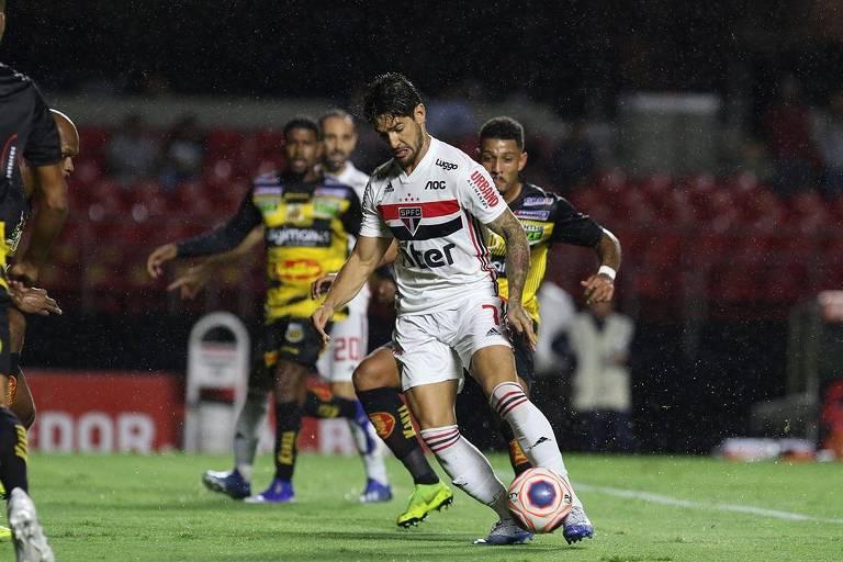 Alexandre Pato no empate por 1 a 1 entre São Paulo e Novorizontino pela quarta rodada do Paulista